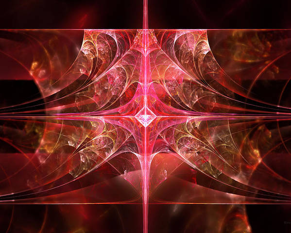Fractal Poster featuring the photograph Fractal - Abstract - The Essecence Of Simplicity by Mike Savad