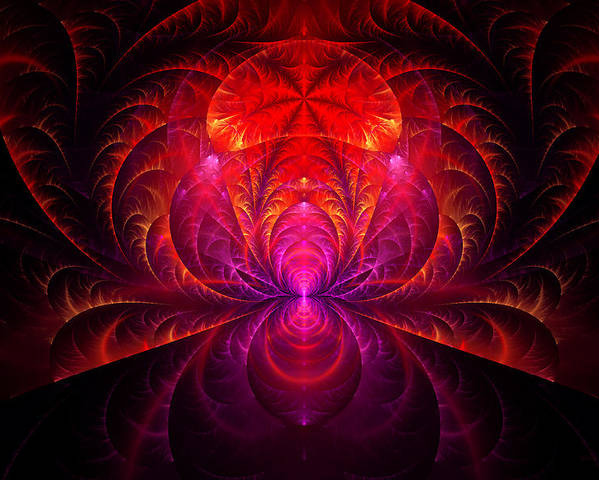 Abstract Poster featuring the digital art Fractal - Jewel Of The Nile by Mike Savad