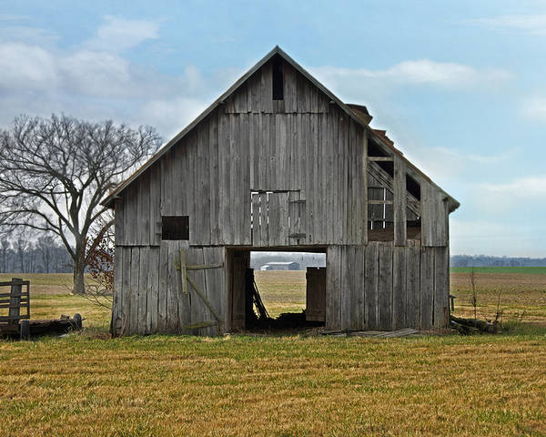 Barn Poster featuring the photograph Framed Barn by Steven Michael
