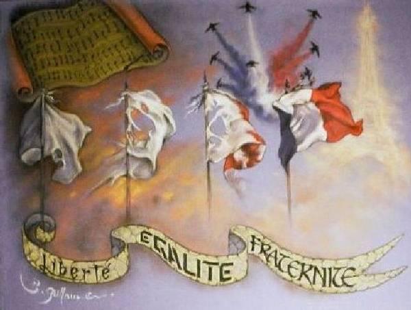 France Belle Et Rebelle Un Poster featuring the drawing France Belle Et Rebelle Un by Guillaume Bruno