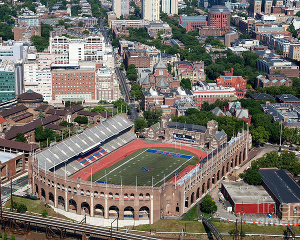 Franklin Field Poster featuring the photograph Franklin Field University City Pennsylvania by Bill Cobb