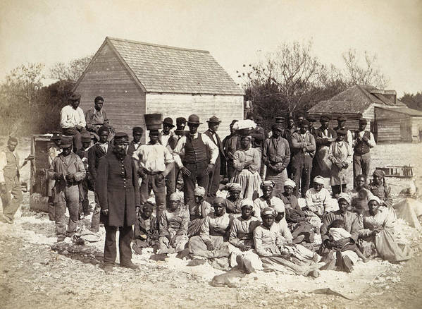 1862 Poster featuring the photograph Freed Slaves, 1862 by Granger