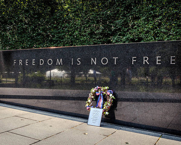 Soldiers Poster featuring the photograph Freedom Is Not Free by Sennie Pierson