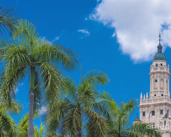 Freedom Tower At Miami Dade College Poster