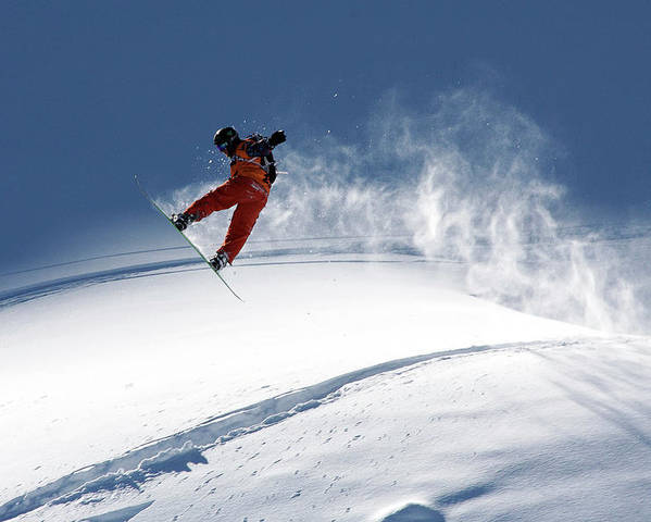 Freeride Poster featuring the photograph Freerider by Evgeny Vasenev