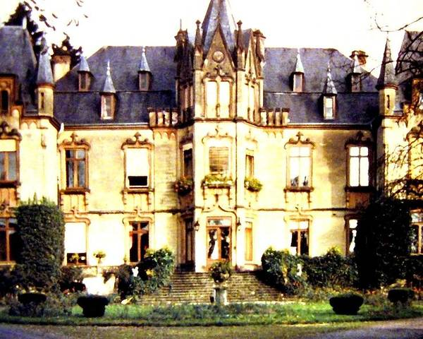 French Chateau 1955 Poster featuring the photograph French Chateau 1955 by Will Borden