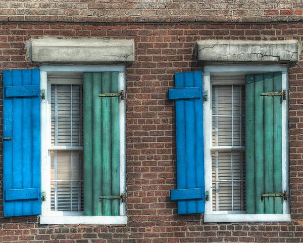 French Quarter Poster featuring the photograph French Quarter Windows by Brenda Bryant