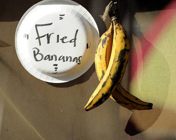 Bananas Poster featuring the photograph Fried Bananas by Mark Sullivan