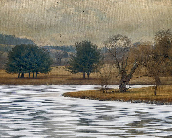 Winter Poster featuring the photograph Frozen Lake by Kathy Jennings