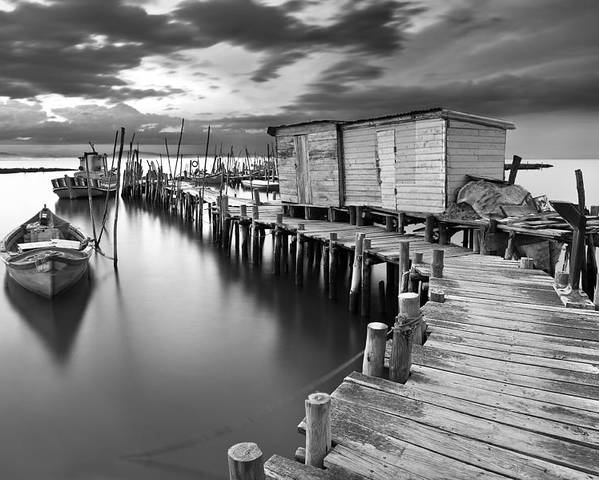Pier Poster featuring the photograph Frozen Melody by Jorge Maia