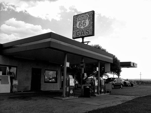 Route 66 Poster featuring the photograph Fueling Up On 66 by Philomena Zito