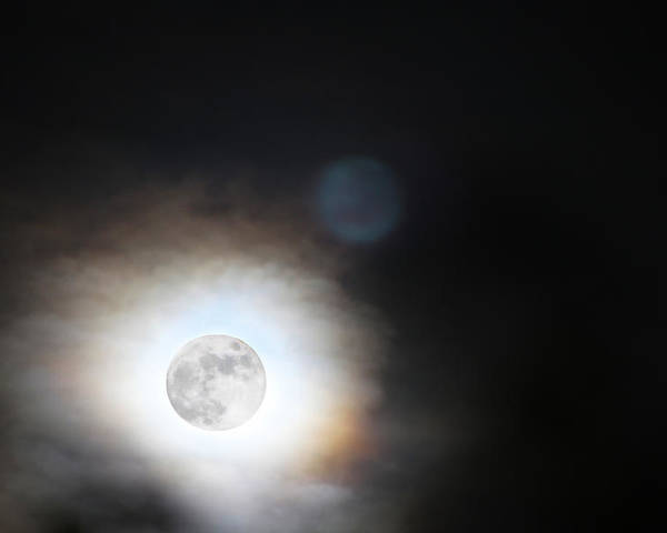 Full Moon Poster featuring the photograph Full Taurus Moon by Diana Haronis
