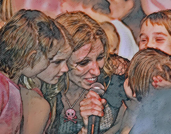 Debbie Gibson Poster featuring the photograph Fun With The Kids by Brian Graybill