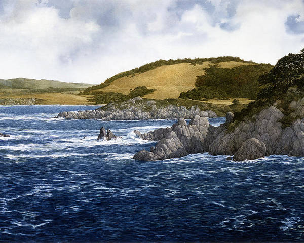 Seascape Poster featuring the painting Gambler's Paradise by Tom Wooldridge