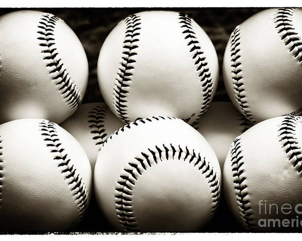Game Balls Poster featuring the photograph Game Balls by John Rizzuto