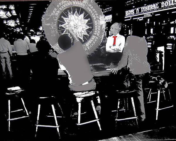 Gaming Tables Interior Binion's Horseshoe Casino Las Vegas Nevada 1979-2014 Poster featuring the photograph Gaming Tables Interior Binion's Horseshoe Casino Las Vegas Nevada 1979-2014 by David Lee Guss
