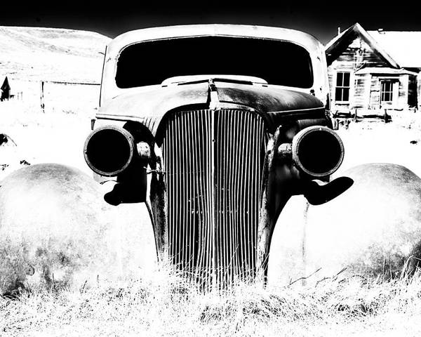 Ghost Town Poster featuring the photograph Gangster Car by Cat Connor