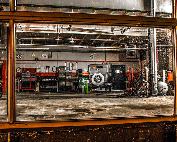 Automotive Poster featuring the photograph Garage Window by Ray Congrove