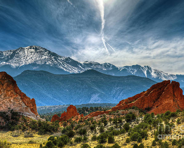 Garden Of The Gods Poster featuring the photograph Garden Of The Gods by Brandon Alms