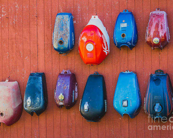 Gas Tank Poster featuring the photograph Gas Tanks by Ashley M Conger