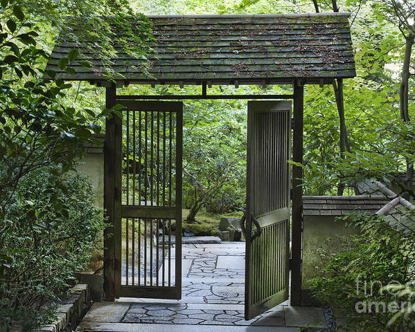 Gates Poster featuring the photograph Gates Of Tranquility by Sandra Bronstein