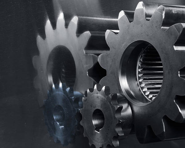 Gears Poster featuring the photograph Gears And Power by Christian Lagereek