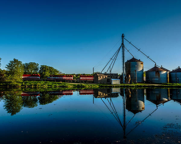 Country Poster featuring the photograph Genesee Mill by Randy Scherkenbach