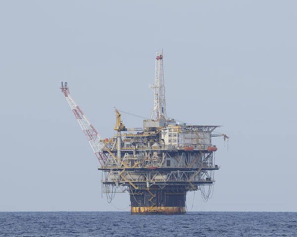 Oil Rig Poster featuring the photograph Genesis Production Platform by Bradford Martin