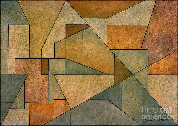 Geometric Poster featuring the digital art Geometric Abstraction Iv by David Gordon