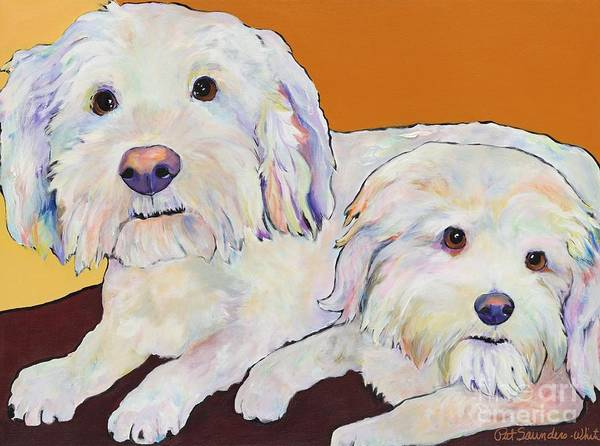 Pat Saunders-white Poster featuring the painting George and Henry by Pat Saunders-White