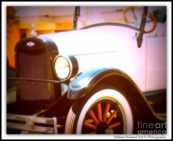 Classic Car Print Poster featuring the photograph Ghost From The Past by Bobbee Rickard