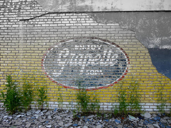 Digital Photography Poster featuring the digital art Ghost Sign by Kay Sparks