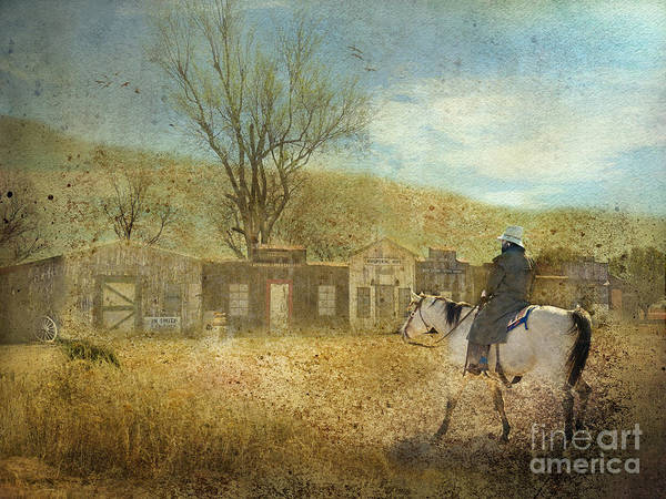 Cowboy Poster featuring the photograph Ghost Town #1 by Betty LaRue