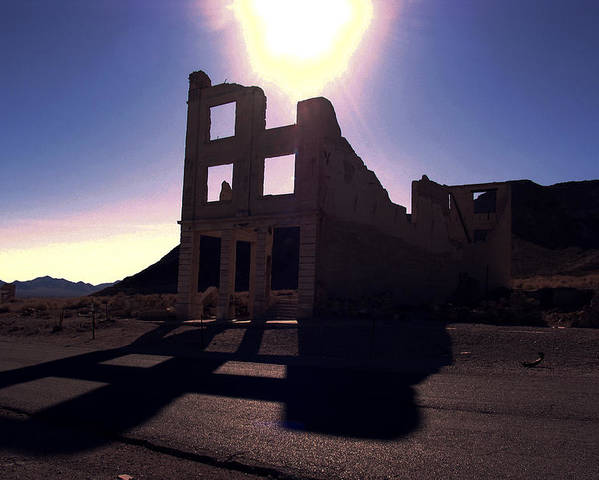 Landscape Poster featuring the photograph Ghost Town - Bank Closed by Maria Arango Diener