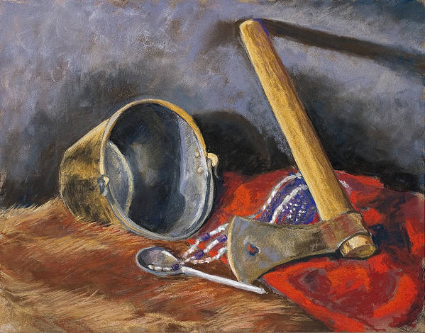 Still Life Poster featuring the painting Gifts Of The Ax Makers by Jennifer Richard-Morrow