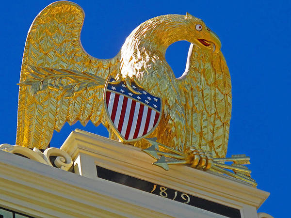 Eagle Poster featuring the photograph Gilded Eagle by Barbara McDevitt