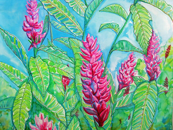 Ginger Poster featuring the painting Ginger Jungle by Kelly   ZumBerge