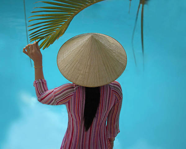 Asia Poster featuring the photograph Girl With Conical Hat, Nha Trang by Keren Su