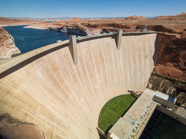 Glen Canyon Dam Poster featuring the photograph Glen Canyon Dam by Greg Nyquist