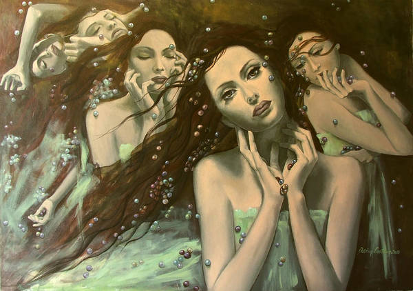 Art Poster featuring the painting Glissando by Dorina Costras