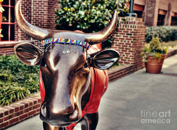 Bull Poster featuring the photograph Glitter Bull by Emily Kay