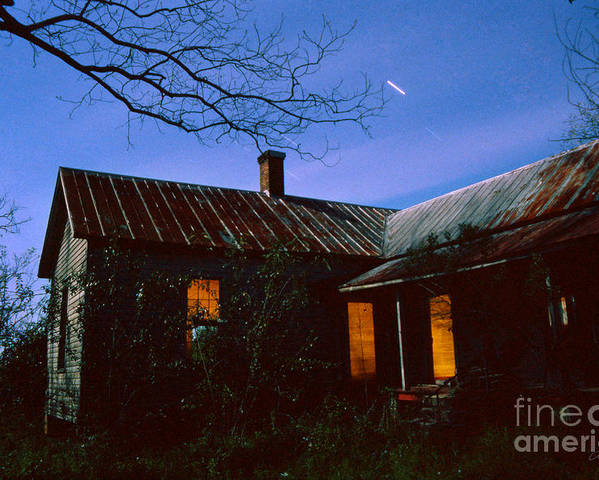 Farm House Poster featuring the photograph Glowing On The Inside by Craig Dykstra