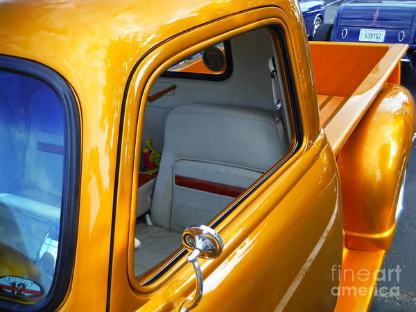 Gold 54 Chevy Truck Poster featuring the photograph Gold 54 Chevy Truck by Paddy Shaffer