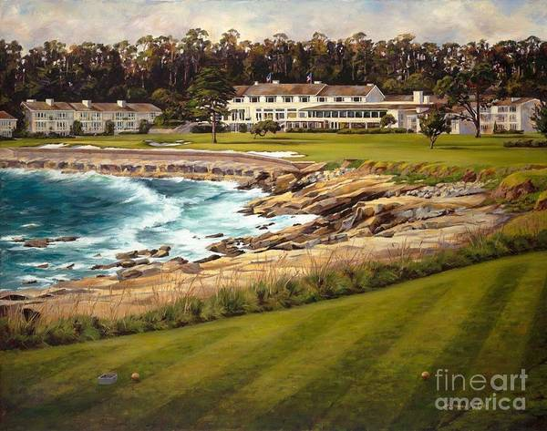 Golf Art Poster featuring the painting Gold Standard by Shelley Cost