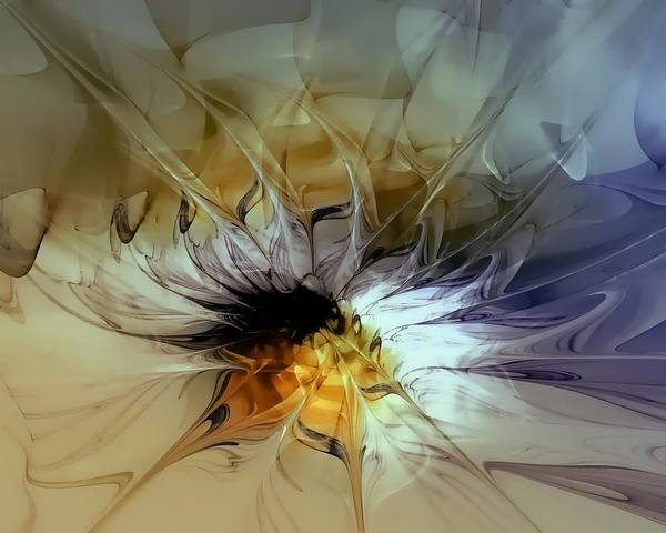 Digital Art Poster featuring the digital art Golden Lily by Amanda Moore