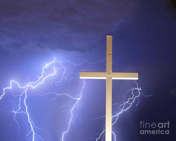 Lightning Poster featuring the photograph Good Friday by James BO Insogna