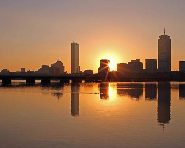 Boston Poster featuring the photograph Good Morning Boston by Juergen Roth