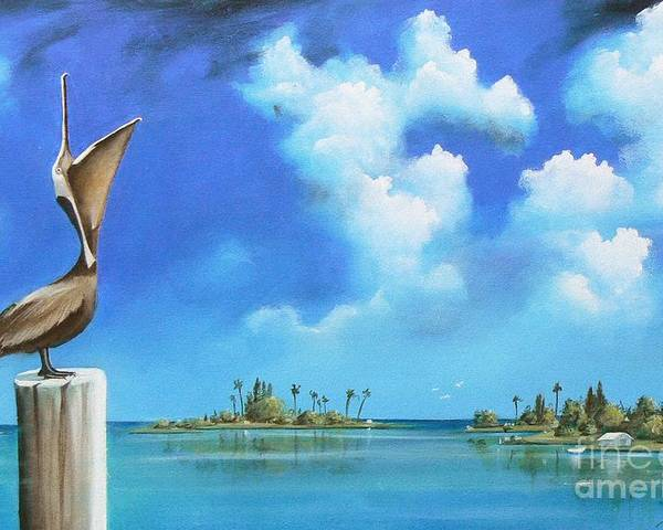 Acrylics Poster featuring the painting Good Morning Florida by Artist ForYou