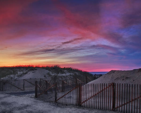 Scenic Poster featuring the photograph Good Night Cape Cod by Susan Candelario