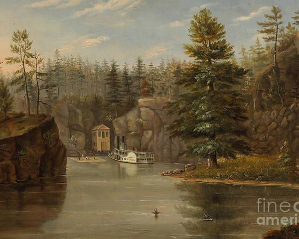 Landscape Poster featuring the painting Gorge Of The St Croix by Henry Lewis